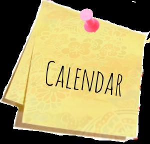 Calendar of Japanese School events